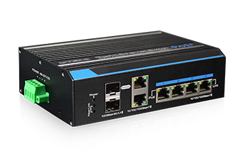 Industrial 4 Ports Gigabit Ethernet HPOE Switch