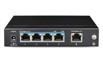 4 Ports PoE Ethernet Switch ( One Uplink Port)