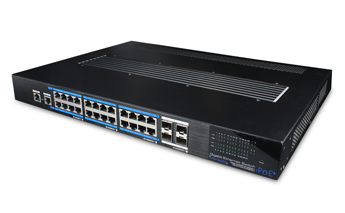24 ports gigabit PoE L2-managed Switch