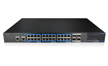 24 Ports PoE Full Gigabit Managed Ethernet Switch