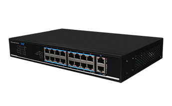 16-Port 10/100Mbps+2 Gigabit Uplink PoE Switch