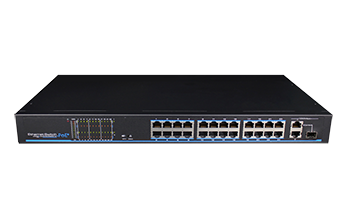 24 Ports PoE Fast Unmanaged Ethernet Switch