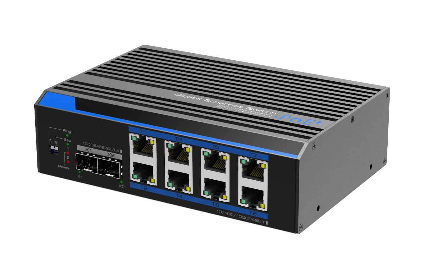 Industrial 8-Port Gigabit+2*SFP Unmanaged Switch(12-48V)
