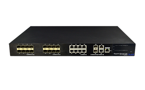 24 Port Ethernet/Fiber Hybrid Full Gigabit Managed Switch