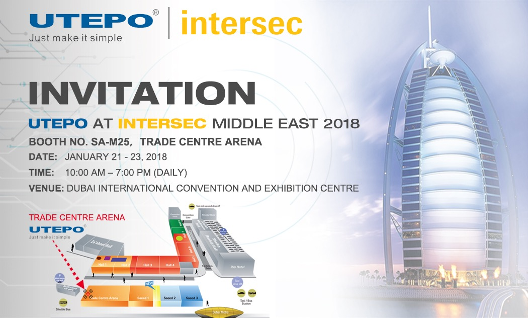 INVITATION - UTEPO at INTERSEC MIDDLE EAST 2018