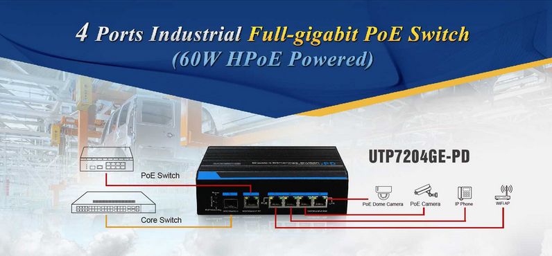 UTEPO, industrial poe switch